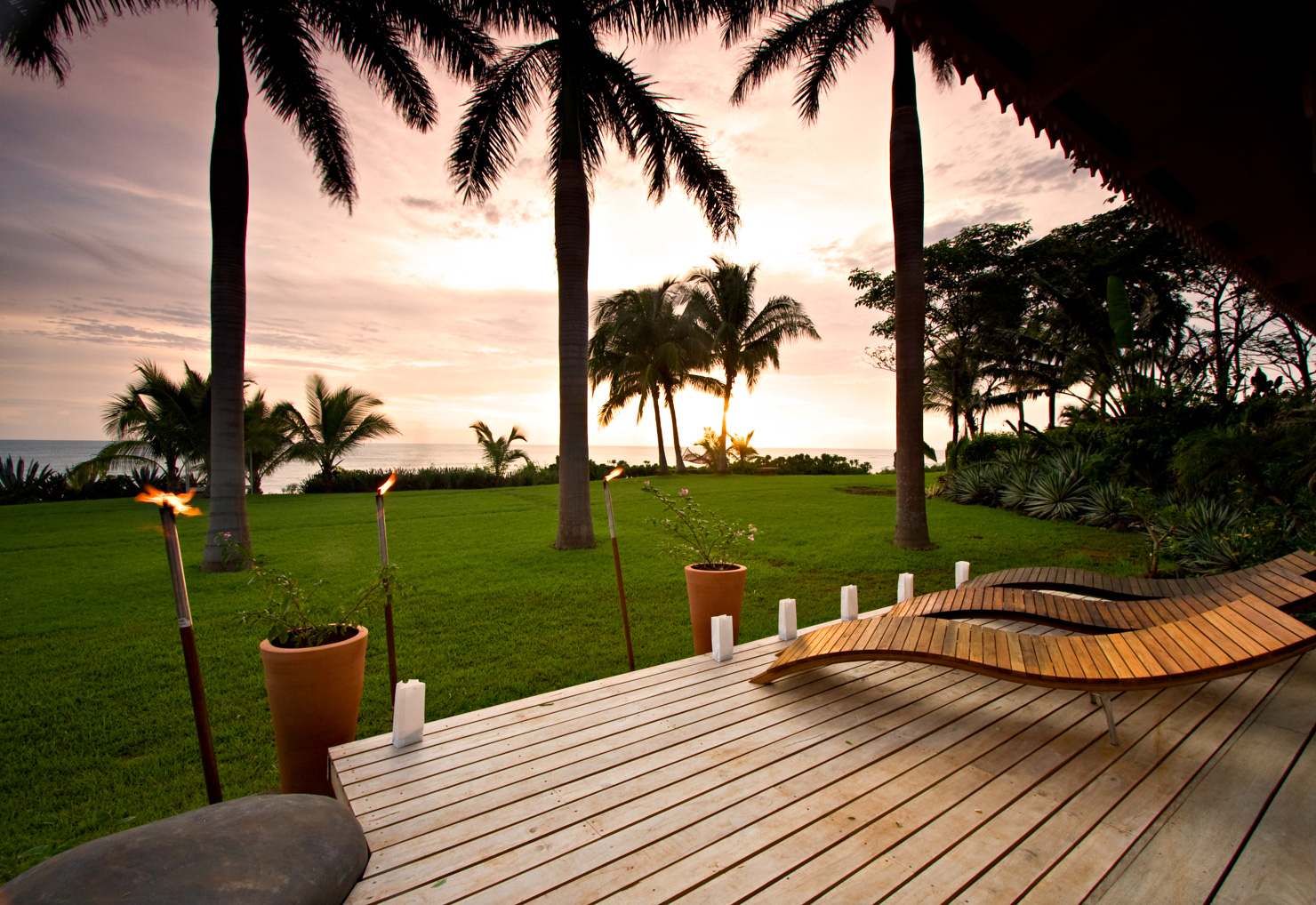 Nice Photo: Sunset Patio