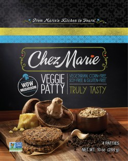 Photo of new Chez Marie packaging