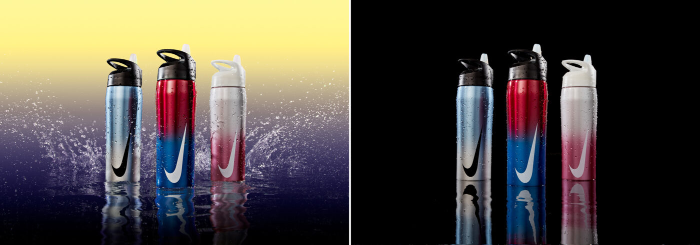 After and Before - Nike Waterbottle Splash