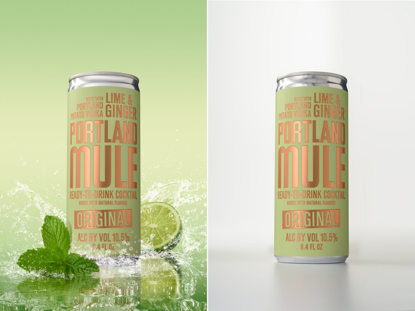 After and Before - Portland Mule