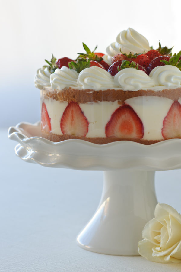 Strawberry Whipped Cream Torte